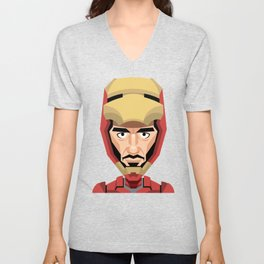 Robert Downey Jr, vector caricature Unisex V-Neck