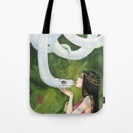 The White Snake Tote Bag