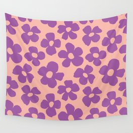 Maxi florals in pool party Wall Tapestry