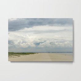 cloudy day at the beach in the netherlands | nature photo | fine art photo print | travel photo Metal Print