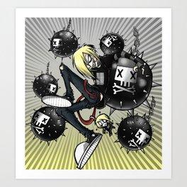 Bombs away Art Print