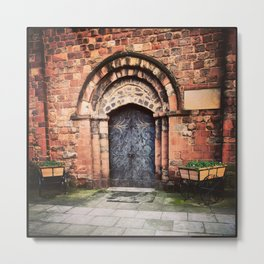 Shrewsbury's St. Mary's Entrance Metal Print