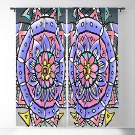 Colourful Circular mandala art Blackout Curtain