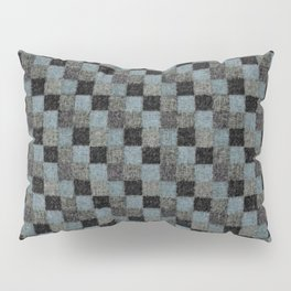 Rustic Teal Blue Green Black Patchwork Pillow Sham