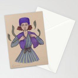 blueberry lady Stationery Cards