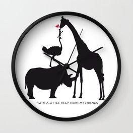 Amigos Wall Clock