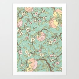 Peaches and Blossoms Art Print