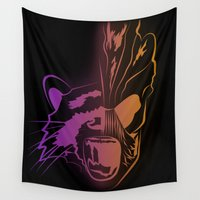 guardians of the galaxy Wall Tapestries featuring GUARDIANS OF THE GALAXY by Jorge Daszkal