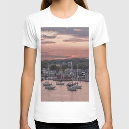 Rockport Harbor Autumn Sunset T-shirt
