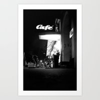 cafe Art Prints featuring Cafe  by Julia Aufschnaiter