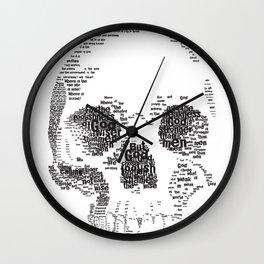 1 Corinthians 1 Skull Wall Clock