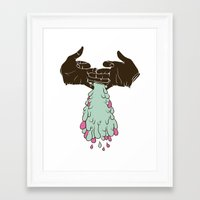 chuck Framed Art Prints featuring Chuck by Noponies