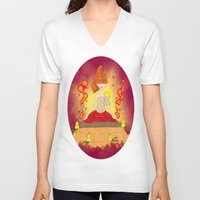 meditation V-neck T-shirts featuring Meditation by KeijKidz