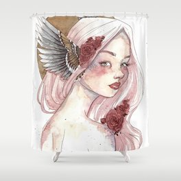 Winged Goddess Shower Curtain