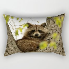 Happy in her hideout Rectangular Pillow