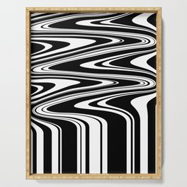 Stripes, distorted 6 Serving Tray