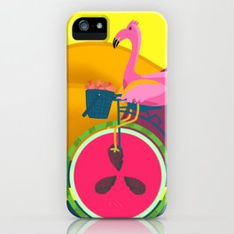 Flamingos Day Out iPhone Case