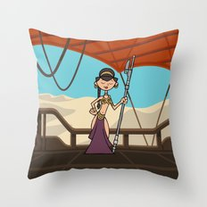 EP6 : Slave Leia Throw Pillow