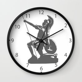 Kneeling Warrior Wall Clock