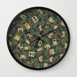 Gamer Camo WOODLAND Wall Clock