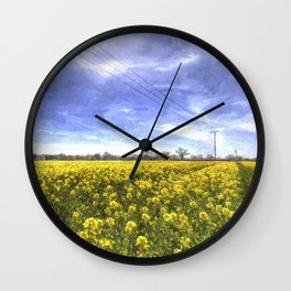 English Summer Farm Art Wall Clock