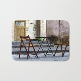 Coffee time in Catania on the Isle of Sicily Bath Mat