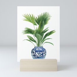 Palm leaves, ming vase Mini Art Print
