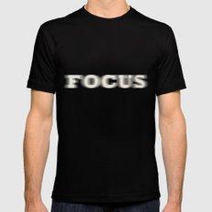 Focus MEDIUM Black Mens Fitted Tee