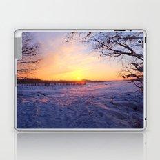 Snowed in peat fields Laptop & iPad Skin
