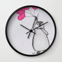 Flying Penguin Wall Clock