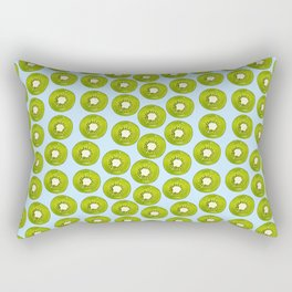 Kiwi Print - Blue BG Rectangular Pillow