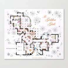 The Golden Girls House floorplan v.2 Canvas Print