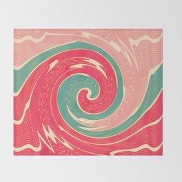 Big red wave Throw Blanket