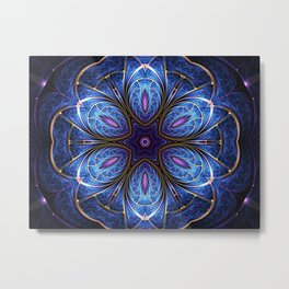Abstract fractal mandala Metal Print