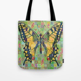 Butterfly (Swallowtail On Green) Tote Bag