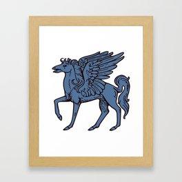 Pegasus shield 5. Framed Art Print
