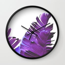 Banana Leaves (Purple) Wall Clock