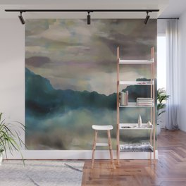 Early Morning Clouds Consume the Mountains Wall Mural
