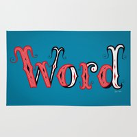 word Area & Throw Rugs featuring Word by greckler