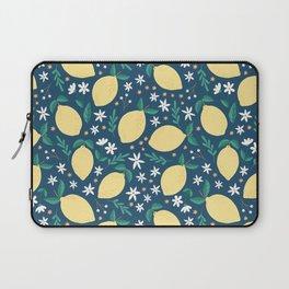 Lemons on Midnight Blue Laptop Sleeve