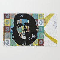 che Area & Throw Rugs featuring Everywhere a Che, Che by Ethna Gillespie