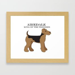 Airedale Framed Art Print