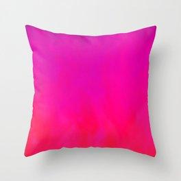 Fuchsia Fire Magenta Violet Ombre Throw Pillow