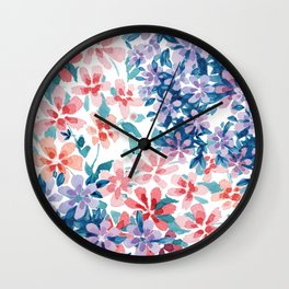 Watercolor Floral Wall Clock