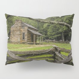 Oliver Log Cabin in Cade's Cove Pillow Sham