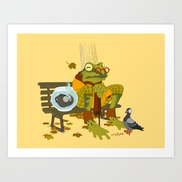Day Out with Grandpa Art Print
