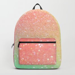 Glitter Pink Gold Mint Sparkle Ombre Backpack