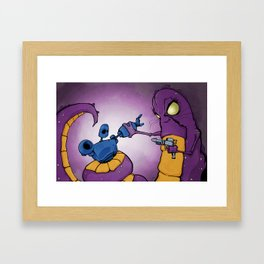 Robot v Monster Framed Art Print