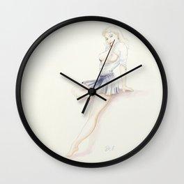 Pinup - sexy uniform Wall Clock