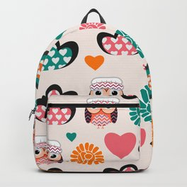 Owls and hearts Backpack